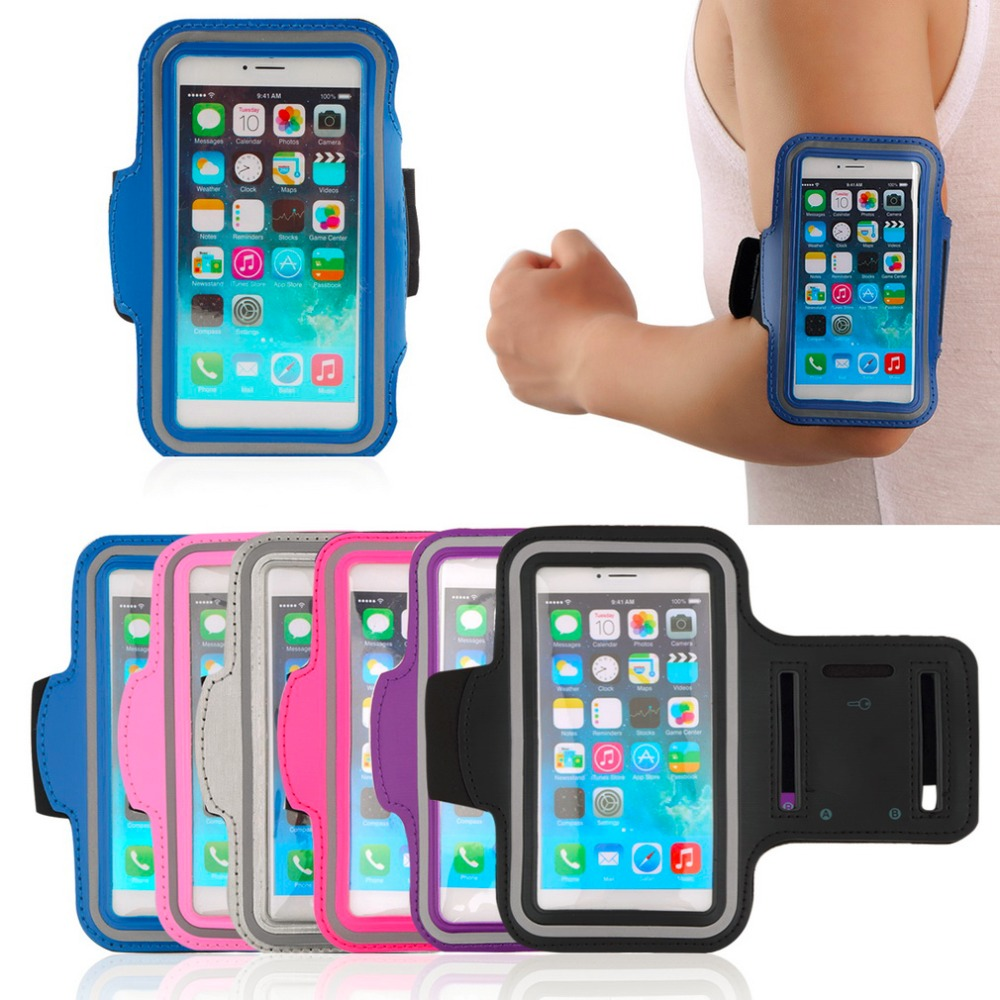 Waterproof Sports Running Jogging GYM Armband Arm Band Belt Case Cover Holder for iPhone 6 4.7'' Mobile Phone with Key Holder