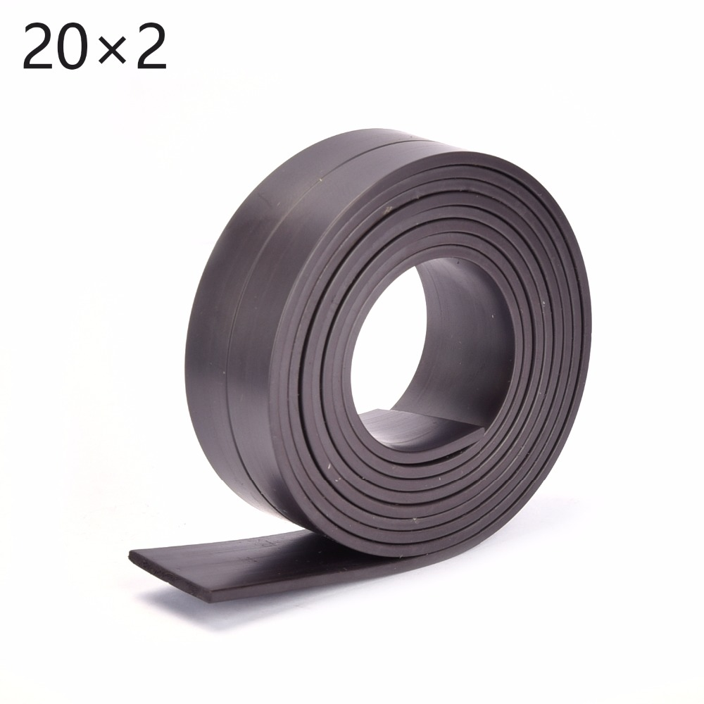 1M Rubber Magnetic Strip Stripe Flexible Magnet DIY Craft Tape 20 x 2mm width :20mm thickness: 2mm. craft flexible magnetic sheet tape 620mm width 0 5mm thickness magnets roll 1m roll magnetic car sign diy 930g meter