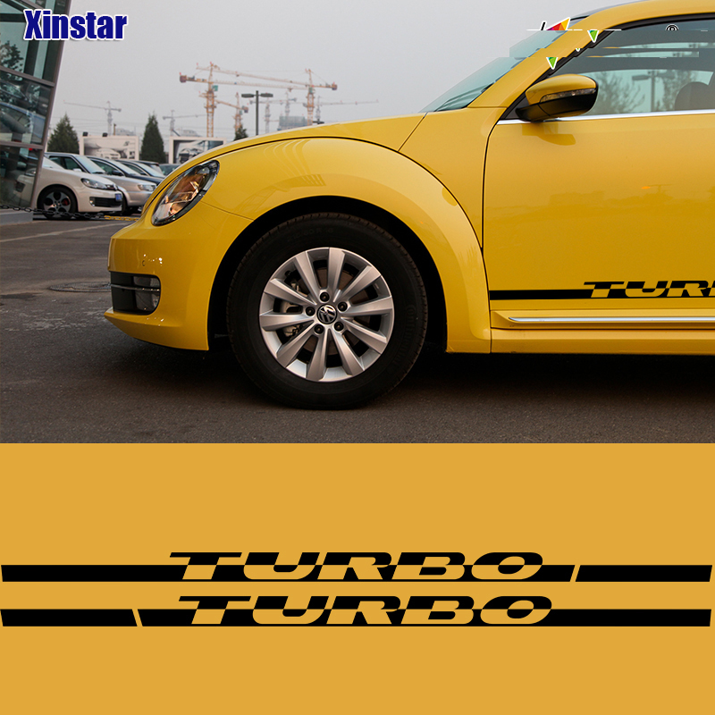 Volkswagen Beetle Turbo Price: 2pcs/lot Turbo Car Side Body Decoration Sticker For VK