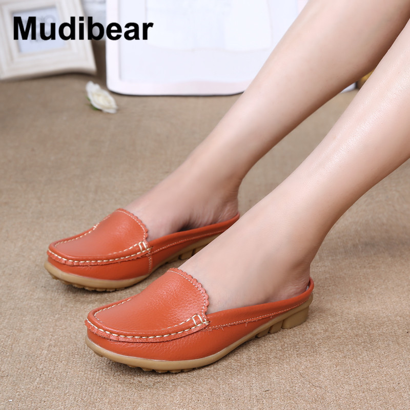 Mudibear Summer Women Ballet Platform Shoes Ladies Slip On 2017 Flat for Shoes Women Moccasins Leather Flat Shoe Female Loafers 34 43 big small size new 2016 summer fashion casual shoes moccasins bottom shoe platform flat for women s loafers ladies