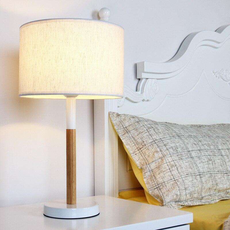 YOOK 28*50CM Creative Wood Simple Table Lamp Bedroom