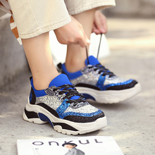 2019 New Arrival  Women Running Shoes Harajuku Sneakers Cushioning Height Platform Breathable Wave Sports Walking