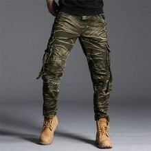 Camouflage Cargo Pant Men Military Tactics Pants Trousers Vintage 2019 Fashion Mens Cotton Bottoms Plus Size S270