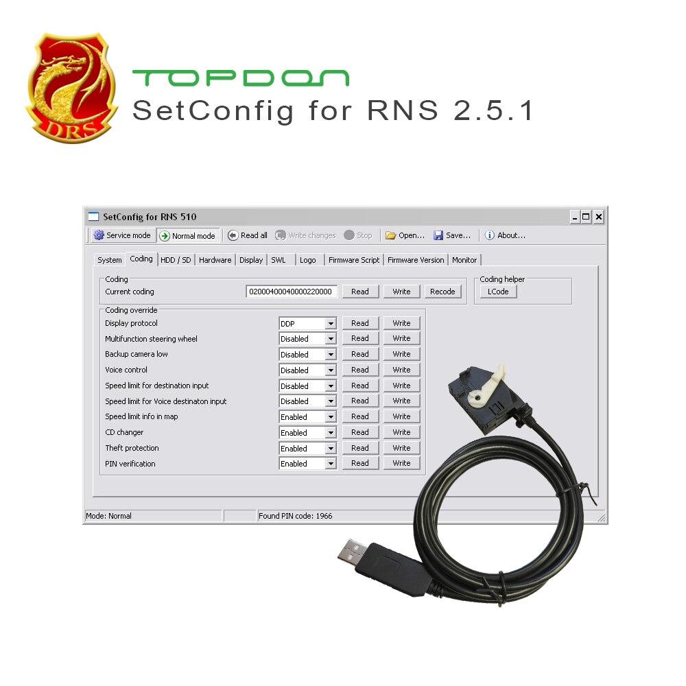 Effacer NAND mémoire Changement code PIN pour RNS510 RNS810 RNS850 BENTLEY CONTINENTAL avec FTDI puce et d'origine VW 26- broches connecteur