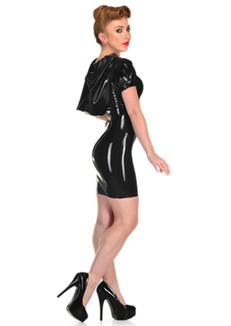 ab198f1aa68fd ... üzerinde Güvenilir faux leather dress tedarikçilerden S XXXL Kadınlar  Seksi PVC Lateks Elbise Parlak Siyah Kapşonlu Bodycon Suni Deri Elbise Gece  Kulübü ...