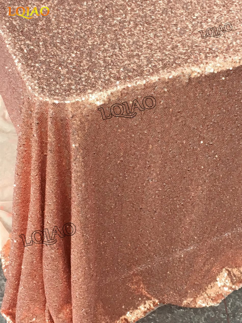 rose gold sequin tablecloth-014