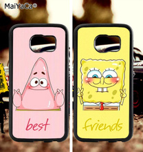BFF geBoB and patrick soft TPU edge cell phone cases for samsung s6 plus s7 s8 s9 s10 lite e note 8 9 case