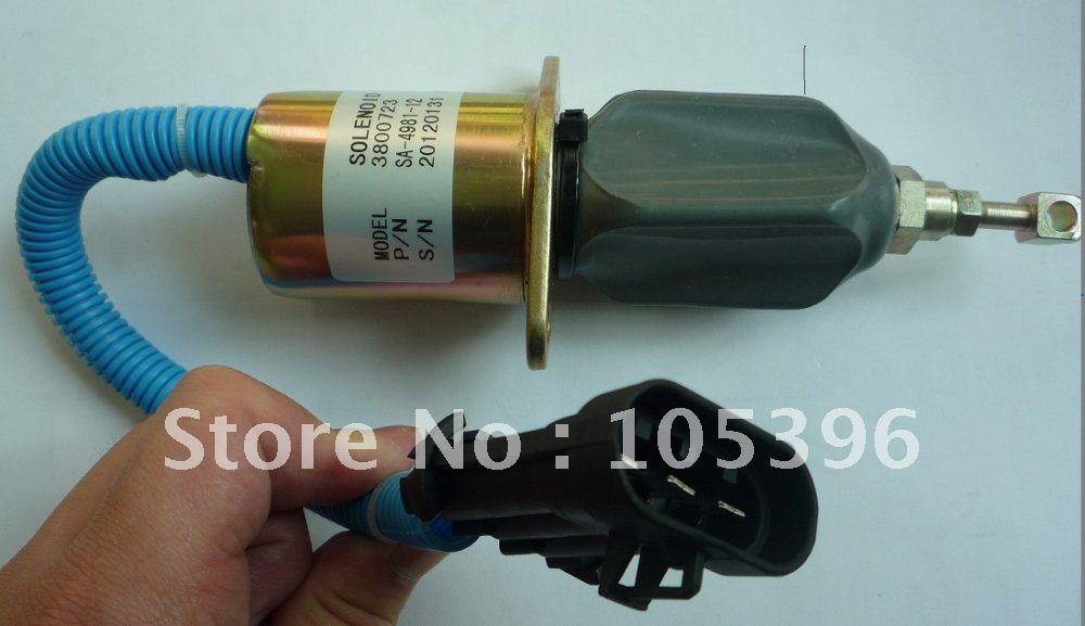 shut down solenoid 3800723 SA-4981-12+fast cheap shipping by FEDEX/DHL fuel shutdown solenoid valve 3932529 sa 4756 12 for engine 4b 6b fast cheap shipping by fedex dhl