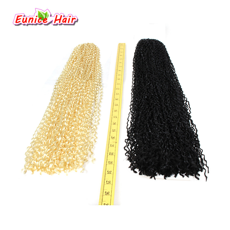 ZIZI braid hair #27 #613 blonde 24 crochet braids Synthetic Braiding Hair freetress crochet braid kinky curly micro knot curl