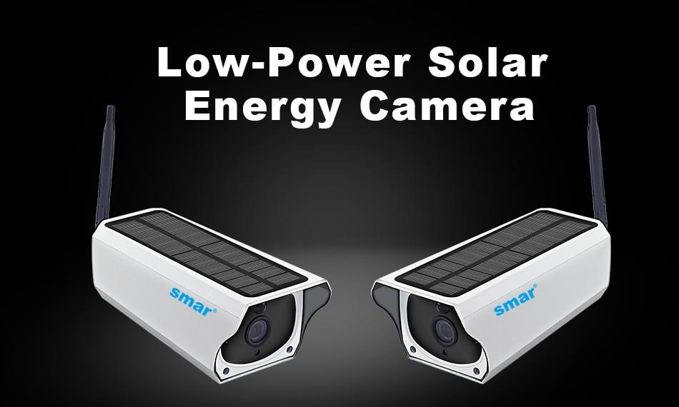 Smar Newest Solar Powered Outdoor Security Camera HD 1080P Wireless IP Camera IR Night Vision Waterproof Surveillance Camera (1)