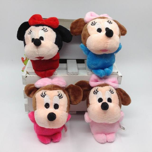 Hot Mooie Mickey Mouse Minnie Mouse Knuffels 10 Cm Gevulde Cartoon