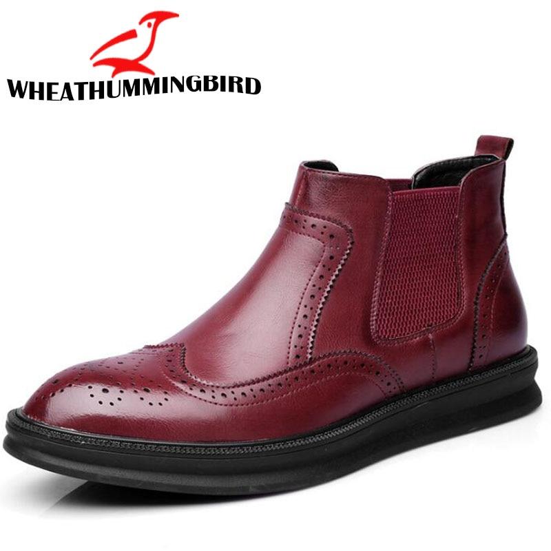 Confortable Automne Printemps Hommes Occasionnels Cheville Lf rouge Chaussures Martin Bottes Richelieu Mode Noir jaune 83 BfqYw