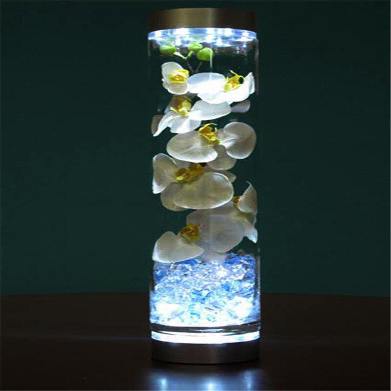 Заводские сделки!! 10 шт./лот 4 inch центральным свет База с 9 супер яркий светодиод под ваза свет Свадебные украшения