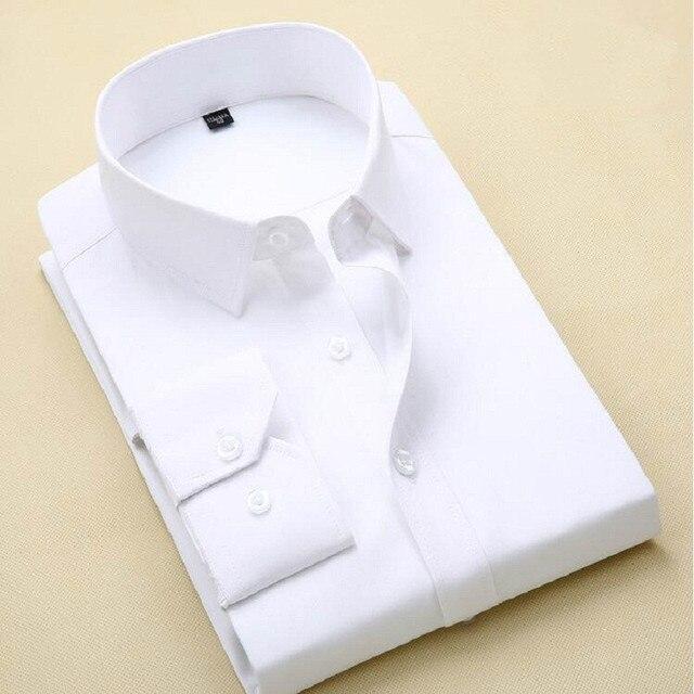 78a5ce7fedb Fashion Brand No pockets Shirt Men Long Sleeve Slim Fit Formal Business  Male Casual Designer Cotton Dress Shirt Plus Size 3XL