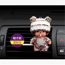 Christmas for girl Supplies Auto Outlet Car clip Perfumes Seat Styling monchichi Air Freshener Magic Fragrance happy new year