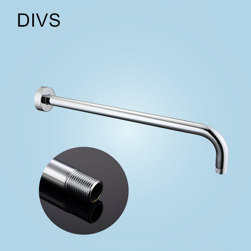 Buy Bathroom Accessorise Shower Arm Wall Mounted Head Fixed Pipe 40cm Round