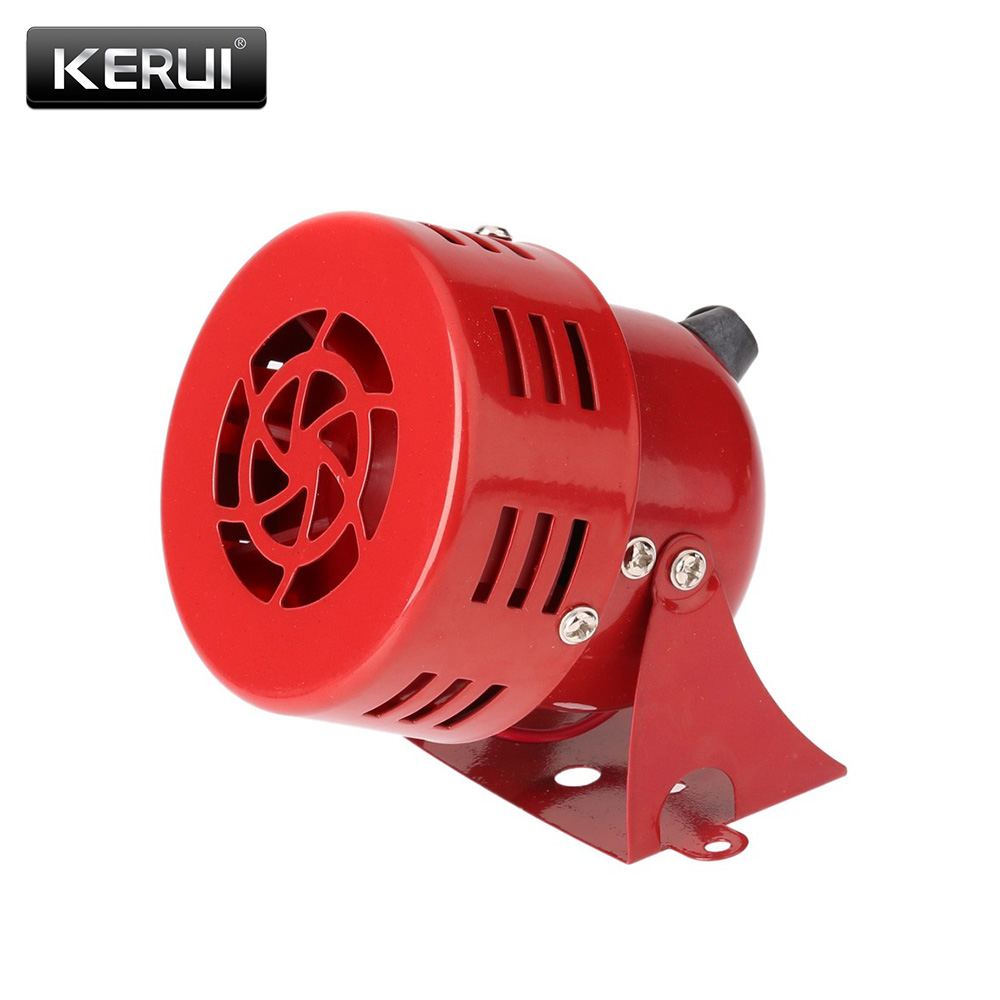 Red High Quality 12V 3 Automotive Air Raid Siren Horn Car Truck Motor Driven Alarm Red Siren Alarm With Retail Box ac 220v ms 190 automotive air raid siren horn car truck motor driven alarm red universal car horn for pickup truck