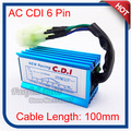 Racing AC CDI Ignition Box 6 Pin For GY6 50cc 125cc 150cc Moped Scooter Engine ATV Quad Motorcycle Motocross