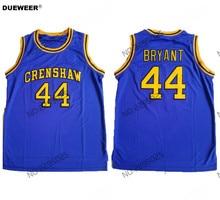 299adbd1333d DUEWEER Mens MOESHA KOBE BRYANT TERRY HIGHTOWER CRENSHAW HIGH SCHOOL  Basketball Jersey  44 BRYANT Stitched Basketball Shirts