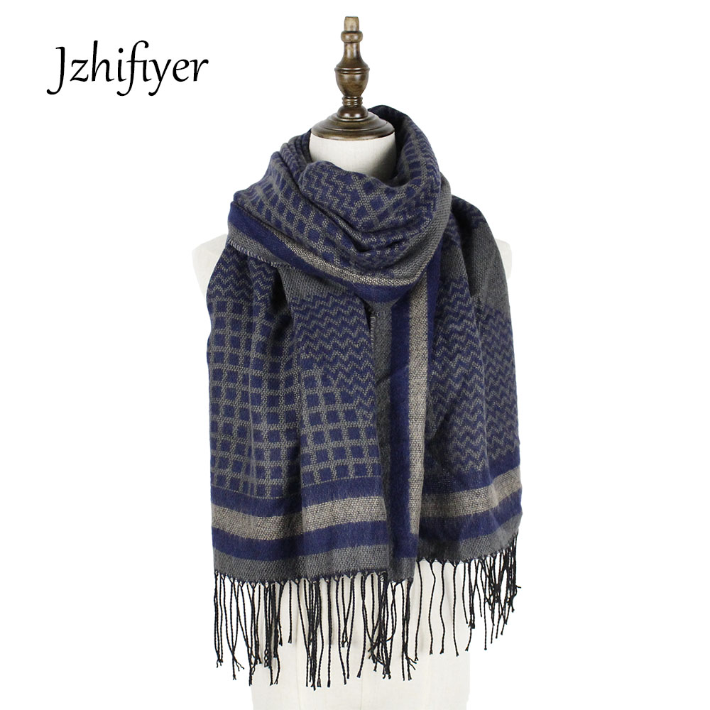 pashmina Lady scarfs fashion long winter reversible plaid cashmere men scarf shawls feminino inverno scarf echarpe femme hiver in Women 39 s Scarves from Apparel Accessories