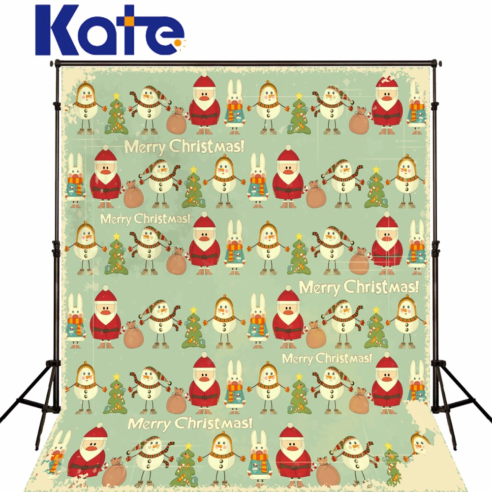 Kate Christmas Backdrop Photography Cartoon Santa Claus Snowman For Children Backgrounds For Photo Studio 8m inflatable christmas santa claus cartoon for adversting inflatable trees and house and box customized festival toy