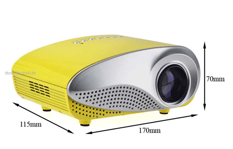 mini projector yellow pic 4