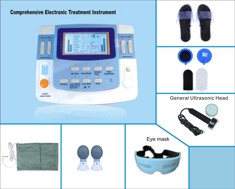 EA-F29 Medical ultrasound machine equipamento laser acupuntura physiotherapy equipment tens with acupuncture-laser factory price physiotherapy e cup ultrasound health care machine ea vf29 with heating laser