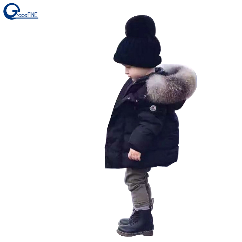 Autumn Winter Baby Boys Jacket Coat Black Warm Thick Hooded Children Outwear Parkas Toddler Baby Girl Cotton Snowsuit 0-6Y 2017 new arrival winter boys zipper hooded cotton jacket black red casual coat warm thick outwear 1704003