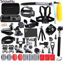 Buy SnowHu for Gopro hero 5 accessories mount kit mini tripod for go pro hero 4 3+ 2 for xiaomi for eken h 9 for sj5000 camera TZ24