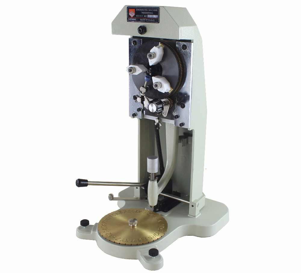 Grabador de anillo interior Estampador para hacer joyas M/áquina de grabado Herramientas de grabado de corte de joyer/ía 2 lados Grabador de anillo