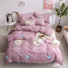 Rabbit Bear Bedding Sets Kids Girls Boys Single Twin Full Queen King Size Cartoon Bedding Sets Duvet Cover Bed Sheet Pillowcases(China)