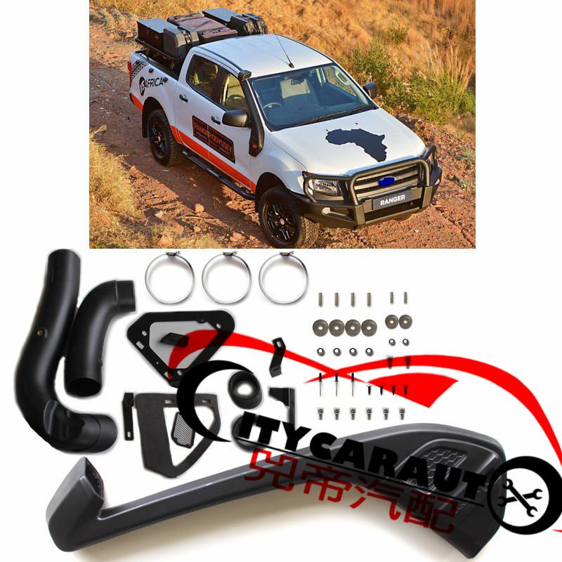 CITYCARAUTO SNOKEL KIT Fit 2012-2015 Ranger T6 Xlt Xl 2Wd 4Wd Wildtrak Air Intake LLDPE Snorkel Kit Set WITH FREE SHIPMENT citycarauto 2007 2011 airflow snokel fit for jeep wrangler jk series 3 8l v6 air ram intake snorkel kit black