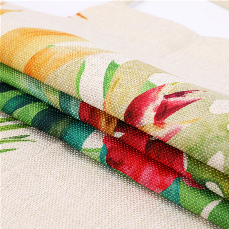 Image 4 - 1Pcs Flamingo Leaf Pattern Cotton Linen Aprons Home Cooking Baking Coffee Shop Cleaning Aprons Kitchen Accessories 53*65cm A1010-in Aprons from Home & Garden