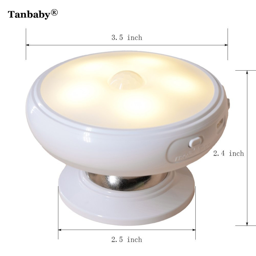 Tanbaby 5 Leds Luminaire Motion Sensor Light Rechargeable