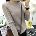 O-neck Twisted Flower Sweater Women 2017 Winter Cashmere Femme Jumpers Long Sleeve Warm Soft Women Sweaters and Pullovers