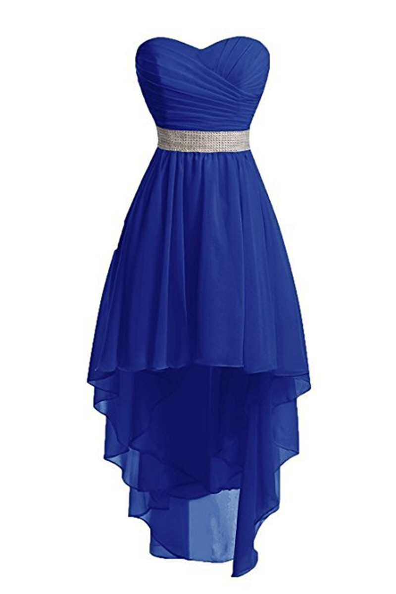 Holievery Sweetheart Chiffon High Low   Bridesmaid     Dresses   2019 Beach Wedding Party   Dress   Lace Up sukienka wesele