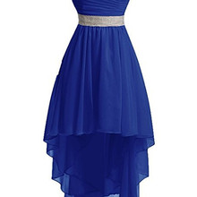 Holievery Sweetheart Chiffon High Low Bridesmaid Dresses 202