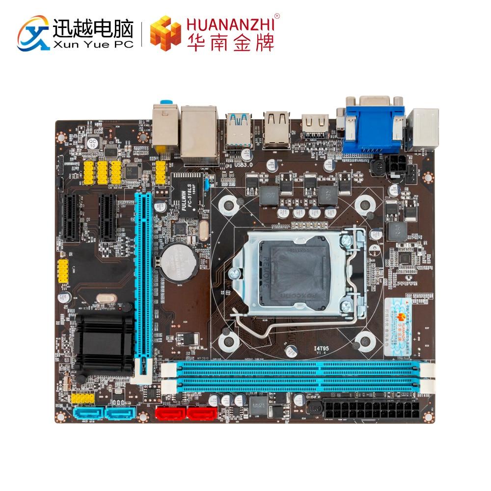 HUANAN ZHI B85 M-ATX Carte Mère B85 Pour Intel LGA 1150 i3 i5 i7 E3 DDR3 1333/1600 MHz 16 GO SATA3.0 USB3.0 VGA DVI HDMI