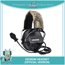 Z-TAC zSordin Tactical Headset Hunting Headphones Softair Noise Canceling Airsoftsports Peltor Headset For Shooting Fit PTT Z111