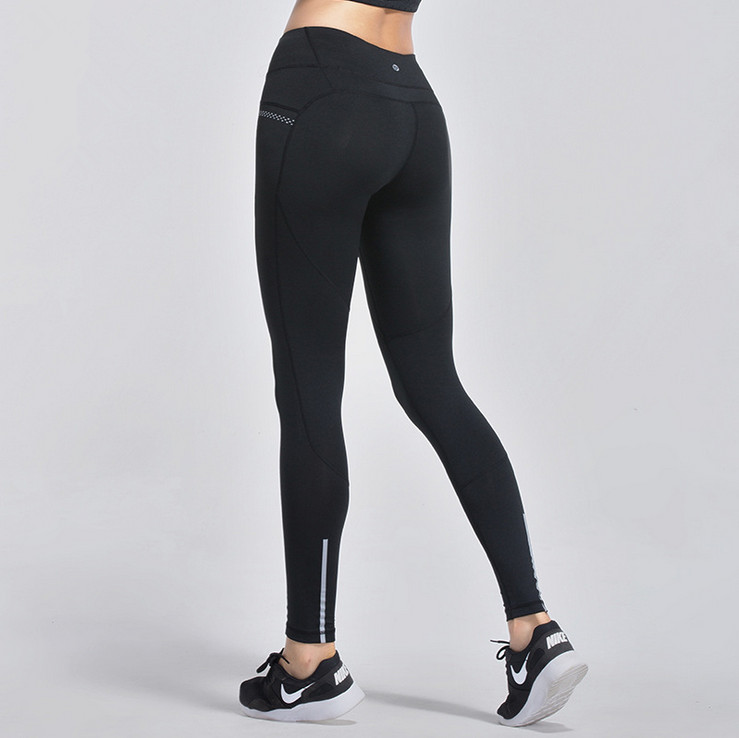 2017 Women Running Pants Sexy Compression Tights Solid Hips Push Up Leggings Fitness Pants Quick Dry Elastic Trousers