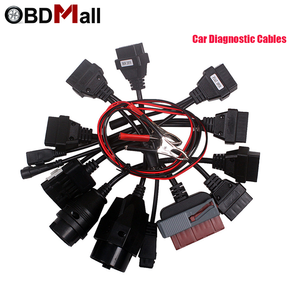 OBD2 OBDII Full Set Car Cables Scan 8 In 1 Car Adapter Diagnostic Tool Connector Cable F ...