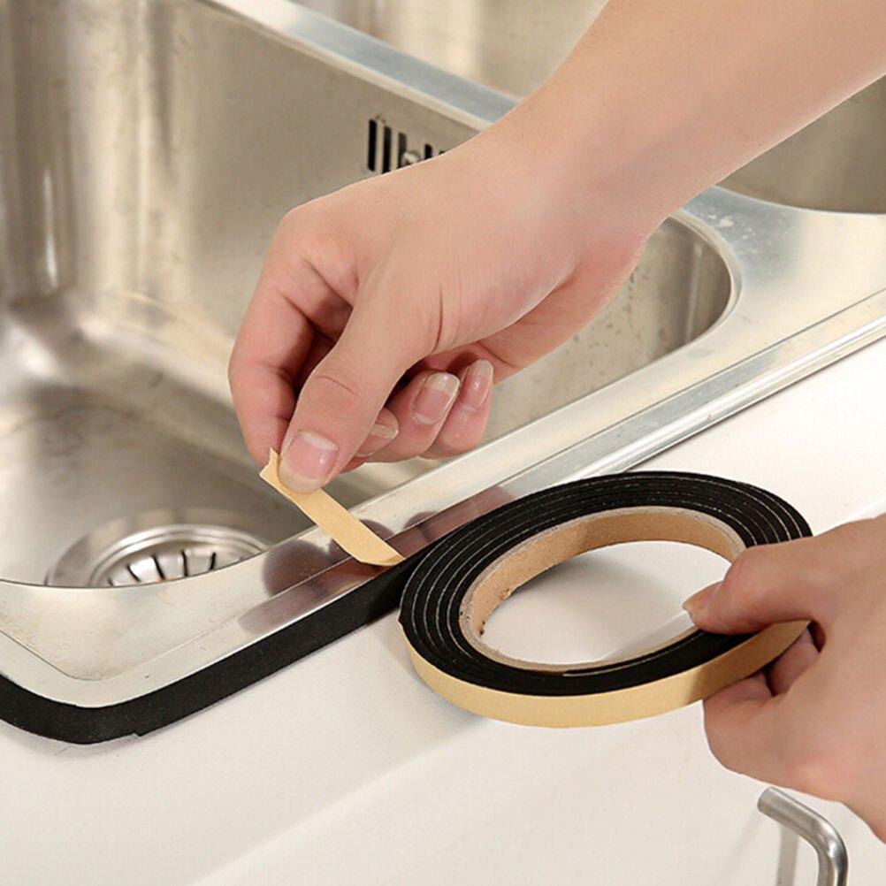 2 M Waterproof Seal Kitchen Black Self-Adhesive Door Window Sealing S P Gas Stove Slit S P Antifouling Dustproof