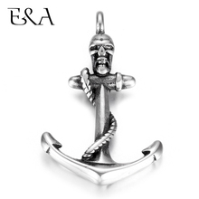 Stainless Steel Anchor Skull Pendant DIY Necklace Bracelet Hooks Charms Findings Jewelry Making Supplies Parts Wholesale