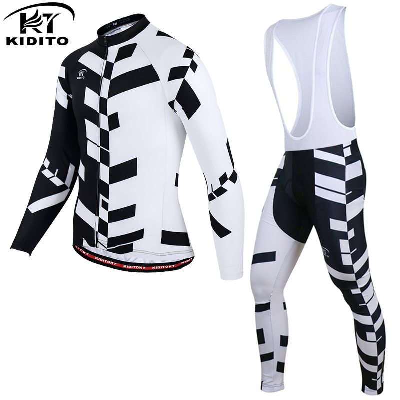 KIDITOKT 2019 Anti UV Cycling Jersey Set Breathable Long Sleeve Bike Cycling Clothing Mountain Bicycle Wear