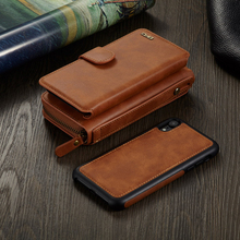 Note 7 Note 4 Not 5 Zipper Removable Wallet Case Magnetic 2 in 1 PU Leather Flip Card Slots Case for Galaxy S4 S5 S6 S7 Edge стоимость