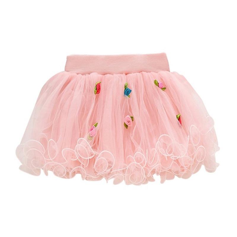 Baby Kids Girls Tutu Skirt Flower Party Weeding Christmas Ball Gown Princess Lace Children Mini Skirt Cute Clothes 2-5 Years одежда для дам flower skirt 238