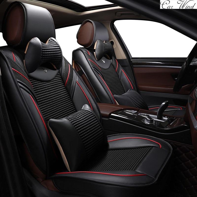 car wind universal leather car seat cover for nissan tiida toyota fortuner rav4 suzuki lexus. Black Bedroom Furniture Sets. Home Design Ideas