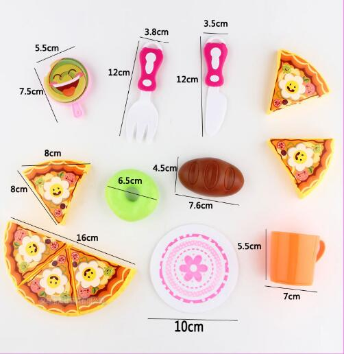 Free shipping 1set Childrens Cake Cutlery Set Simulation Pizza Toy Kids Pretend toy 13pcs/set