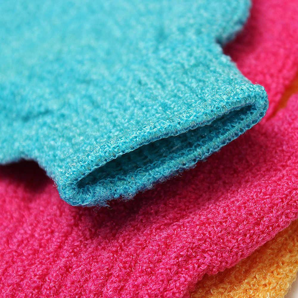 4 Pcs ถุงมือ Exfoliating Wash สปาถุงมืออาบน้ำโฟม Skid ความต้านทานนวดทำความสะอาด Loofah Scrubber
