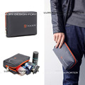 Elegant Grey Compact Designer brand Waterproof  Toiletry Bag Men's Travel Organizer Cosmetic Bag